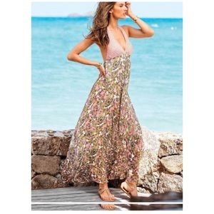 Victoria's Secret • floral halter maxi dress